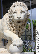 Купить «Скульптура мраморного льва в Воронцовском дворце. Крым, Алупка.», эксклюзивное фото № 324561, снято 29 апреля 2008 г. (c) Дмитрий Неумоин / Фотобанк Лори