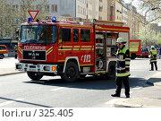 Купить «Пожарная машина Европа Германия», фото № 325405, снято 15 апреля 2007 г. (c) Игорь Шаталов / Фотобанк Лори
