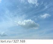 Купить «Белые воздушные облака на фоне молочно-голубого неба», эксклюзивное фото № 327169, снято 28 мая 2008 г. (c) lana1501 / Фотобанк Лори