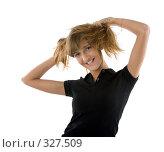 Веселая молодая девушка. Стоковое фото, фотограф Алексей Попрыгин / Фотобанк Лори