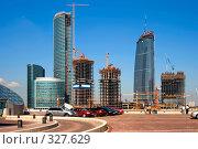 Купить «Строительство бизнес-центра», фото № 327629, снято 12 июля 2007 г. (c) Михаил Лукьянов / Фотобанк Лори