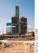 Купить «Строительство бизнес-центра», фото № 327645, снято 12 июля 2007 г. (c) Михаил Лукьянов / Фотобанк Лори
