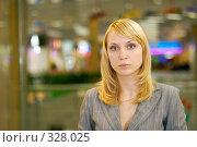 Купить «Деловая женщина в холле», фото № 328025, снято 18 июня 2008 г. (c) BestPhotoStudio / Фотобанк Лори