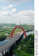 Купить «Современный мост, взгляд с высоты», фото № 331229, снято 20 июня 2008 г. (c) Дмитрий Тарасов / Фотобанк Лори