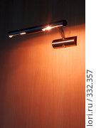 Купить «Лампа на стене», фото № 332357, снято 23 июня 2008 г. (c) Александр Катайцев / Фотобанк Лори