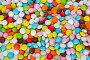 Цветной фон из конфет, фото № 334689, снято 20 октября 2007 г. (c) podfoto / Фотобанк Лори