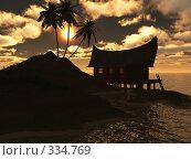 Купить «Закат на море», иллюстрация № 334769 (c) sav / Фотобанк Лори