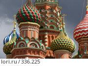 Купить «Москва. Купола Церкви Покрова Богородицы во Рву», фото № 336225, снято 25 июня 2008 г. (c) Julia Nelson / Фотобанк Лори