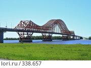 Купить «Ханты-Мансийск, мост через Иртыш», фото № 338657, снято 23 июня 2008 г. (c) Круглов Олег / Фотобанк Лори