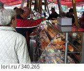 Купить «Рыбный рынок в Бергене (Норвегия)», фото № 340265, снято 15 августа 2018 г. (c) Наталья Ткаченко / Фотобанк Лори