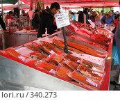 Купить «Рыбный рынок в Бергене (Норвегия)», фото № 340273, снято 21 июня 2008 г. (c) Наталья Ткаченко / Фотобанк Лори