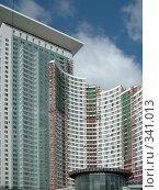 Громадный высотный строящийся комплекс на Русаковской улице, Москва, фото № 341013, снято 26 июня 2008 г. (c) Fro / Фотобанк Лори