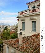 Купить «Крыша дома, Афины», фото № 341073, снято 18 ноября 2007 г. (c) Светлана Черненко / Фотобанк Лори