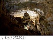 Купить «В Мраморных пещерах (Крым, Чатырдаг)», фото № 342665, снято 23 мая 2008 г. (c) Олег Титов / Фотобанк Лори