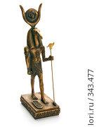 Купить «Фигурка, бог Тот, изолировано на белом фоне», фото № 343477, снято 26 марта 2007 г. (c) Андрей Зык / Фотобанк Лори