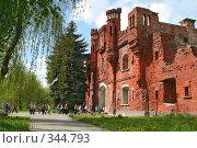 Купить «Холмские ворота Брестской крепости», фото № 344793, снято 11 мая 2008 г. (c) Андрей Рыбачук / Фотобанк Лори