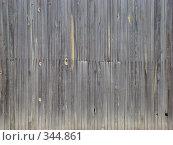 Узкие выцветшие вертикальные доски. Стоковое фото, фотограф Сакмаров Илья / Фотобанк Лори