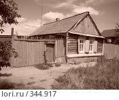 Старый дом г.Маркс Саратовской области (сепия) (2008 год). Стоковое фото, фотограф Сакмаров Илья / Фотобанк Лори