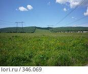 Купить «Линия электопередач», фото № 346069, снято 15 июня 2008 г. (c) Юрий Мурзич / Фотобанк Лори