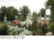 Купить «Свято-Успенский Псково-Печорский монастырь», фото № 353133, снято 18 августа 2007 г. (c) Евгений Батраков / Фотобанк Лори