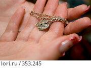 Купить «Крестик на ладони», фото № 353245, снято 3 июля 2008 г. (c) Филонова Ольга / Фотобанк Лори