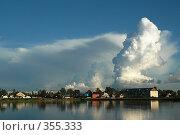 Купить «Панорама Талдома летним вечером», фото № 355333, снято 11 марта 2005 г. (c) Ольга Дроздова / Фотобанк Лори