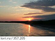 Купить «Закат на озере Чаны», фото № 357205, снято 11 июля 2008 г. (c) Роман Бурдыко / Фотобанк Лори