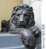 Купить «Скульптура льва. Москва, Хлебный переулок.», фото № 361905, снято 2 июля 2008 г. (c) Яременко Екатерина / Фотобанк Лори