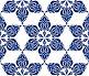 Бесшовный рисунок. Синий узор., иллюстрация № 364341 (c) Петрова Ольга / Фотобанк Лори