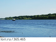 Катер на реке Волге. Стоковое фото, фотограф Смыгина Татьяна / Фотобанк Лори