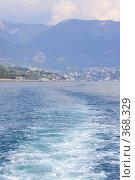 Купить «Море, теплоход, след,вид на Ялту», эксклюзивное фото № 368329, снято 1 мая 2008 г. (c) Дмитрий Неумоин / Фотобанк Лори