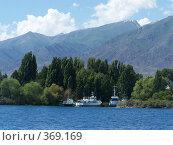 Купить «Причал на озере Иссык-Куль, Киргизия», фото № 369169, снято 5 июня 2008 г. (c) Марина Стукалова / Фотобанк Лори