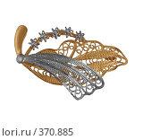 Купить «Золотая брошь с радированием», фото № 370885, снято 7 июля 2020 г. (c) Миронова Евгения / Фотобанк Лори