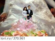 Фигурка жениха и невесты на свадебном торте. Стоковое фото, фотограф Вадим Клерман / Фотобанк Лори