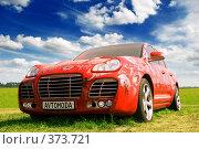Купить «Красный автомобиль на фоне зеленой травы и синего неба», фото № 373721, снято 16 июля 2008 г. (c) Евгений Захаров / Фотобанк Лори