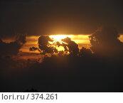 Купить «Закатное небо», фото № 374261, снято 18 июля 2008 г. (c) Ольга Романенко / Фотобанк Лори