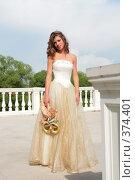 Купить «Девушка в платье невесты», фото № 374401, снято 3 июля 2008 г. (c) Astroid / Фотобанк Лори