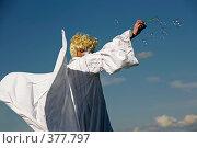 Купить «Ангел пускает мыльные пузыри», фото № 377797, снято 26 июля 2008 г. (c) Морозова Татьяна / Фотобанк Лори