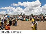 Рынок в базарный день, Эфиопия (2008 год). Редакционное фото, фотограф Александр Волков / Фотобанк Лори