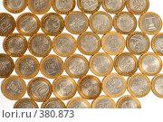 Много разных десятирублевых монет. Стоковое фото, фотограф Олег Пивоваров / Фотобанк Лори