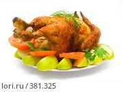 Купить «Курица-гриль с овощами», фото № 381325, снято 2 августа 2007 г. (c) podfoto / Фотобанк Лори