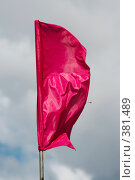 Красный флаг. Стоковое фото, фотограф Андреев Виктор / Фотобанк Лори