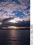Купить «Закат Солнца на озере», фото № 382965, снято 6 июня 2008 г. (c) Сергей Костюров / Фотобанк Лори