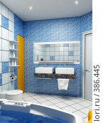 Купить «Интерьер ванной», иллюстрация № 386445 (c) Дмитрий Кутлаев / Фотобанк Лори