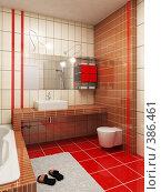 Купить «Красная ванная комната», иллюстрация № 386461 (c) Дмитрий Кутлаев / Фотобанк Лори