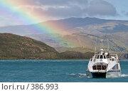 Купить «Радуга и корабль», фото № 386993, снято 29 декабря 2007 г. (c) Александр Волков / Фотобанк Лори