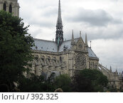 Купить «Собор Парижской Богоматери», фото № 392325, снято 27 июня 2007 г. (c) Алла Кригер / Фотобанк Лори