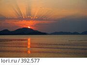 Купить «Восход над Коктебелем», фото № 392577, снято 27 августа 2006 г. (c) Студзинский Станислав Болиславович / Фотобанк Лори