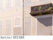 Купить «Укрытие ремонтируемого фасада городского дома», эксклюзивное фото № 393089, снято 7 августа 2008 г. (c) Александр Алексеев / Фотобанк Лори