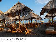 Купить «Пустой пляж», фото № 395613, снято 28 июля 2008 г. (c) Антон Голубков / Фотобанк Лори